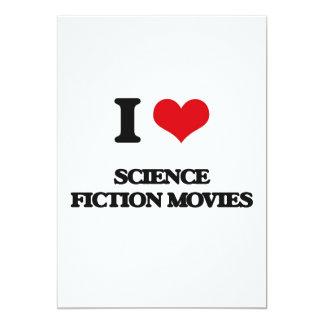 """Amo películas de la ciencia ficción invitación 5"""" x 7"""""""