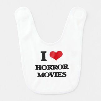 Amo películas de terror baberos de bebé