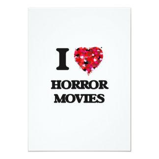 """Amo películas de terror invitación 5"""" x 7"""""""