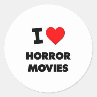 Amo películas de terror pegatina