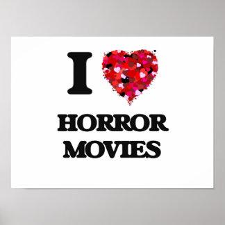 Amo películas de terror póster