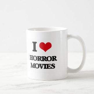 Amo películas de terror taza de café