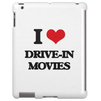 Amo películas del autocinema funda para iPad
