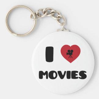 Amo películas llavero redondo tipo pin