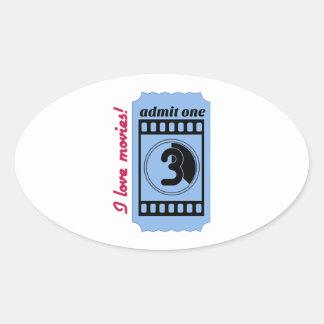 Amo películas colcomanias oval personalizadas