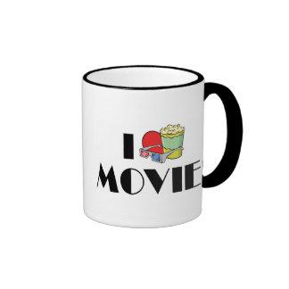 Amo películas taza de dos colores