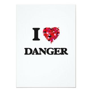 """Amo peligro invitación 5"""" x 7"""""""