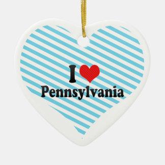 Amo Pennsylvania Adorno De Cerámica En Forma De Corazón