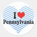 Amo Pennsylvania Etiqueta Redonda