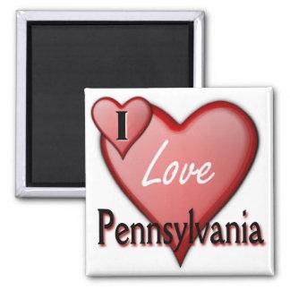 Amo Pennsylvania Imán Cuadrado