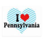 Amo Pennsylvania Tarjeta Postal