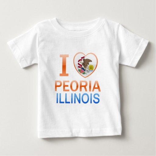 Amo Peoria, IL Playera De Bebé
