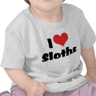 Amo perezas camisetas