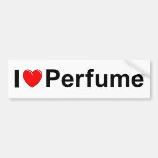 Amo perfume (del corazón) pegatina para auto