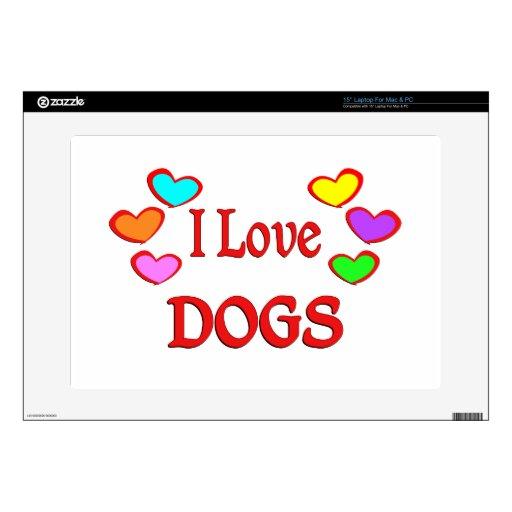 Amo perros calcomanía para portátil