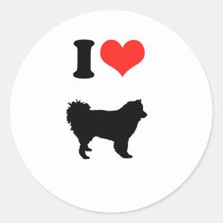 Amo perros chinos de perro chino etiqueta