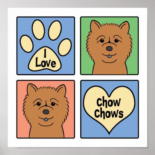 Amo perros chinos de perro chino posters