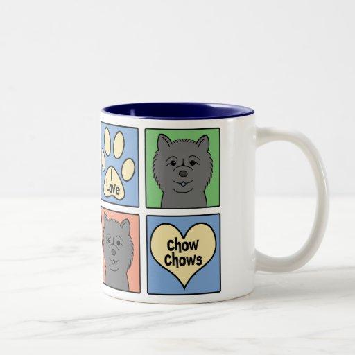 Amo perros chinos de perro chino taza dos tonos