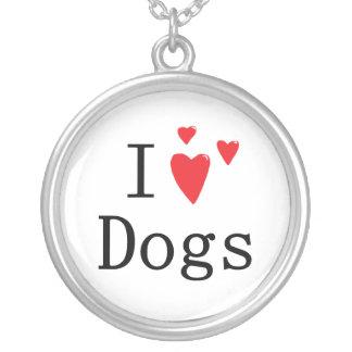 Amo perros colgante redondo