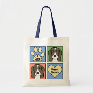 Amo perros de afloramiento bolsa tela barata