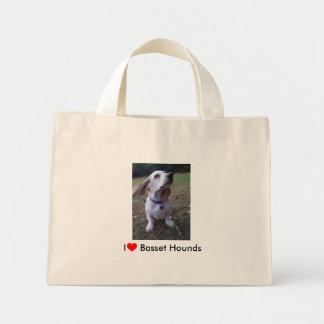 Amo perros de afloramiento bolsa tela pequeña