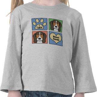Amo perros de afloramiento camiseta