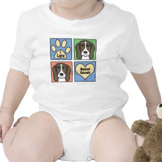 Amo perros de afloramiento trajes de bebé