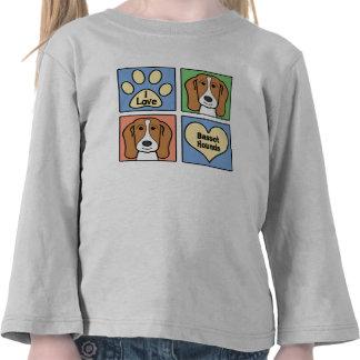Amo perros de afloramiento camisetas