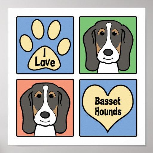 Amo perros de afloramiento posters