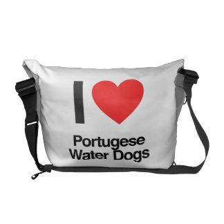 amo perros de agua portugese bolsas de mensajería