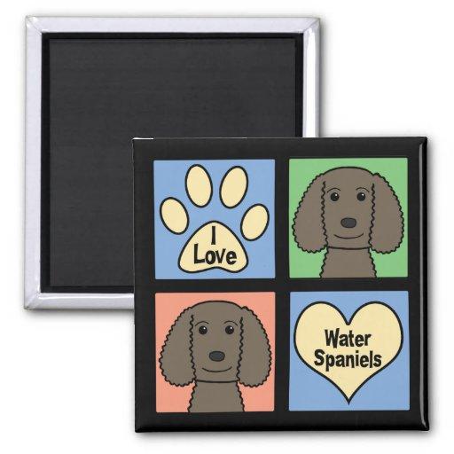 Amo perros de aguas de agua americana imanes de nevera
