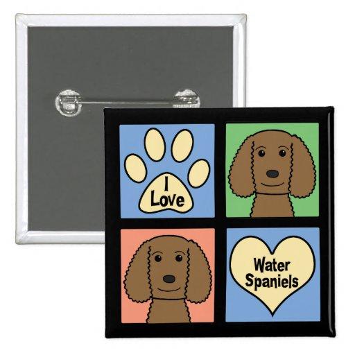 Amo perros de aguas de agua americana pin