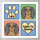 Amo perros de aguas de juguete inglés posters