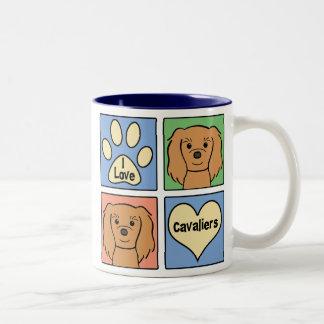 Amo perros de aguas de rey Charles arrogantes Tazas De Café