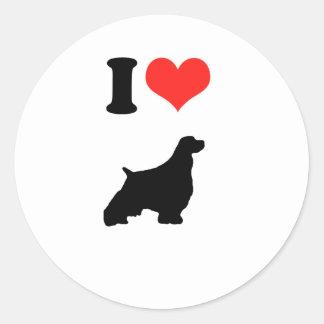 Amo perros de aguas del esprinter etiqueta