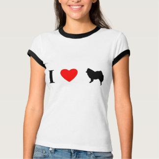 Amo perros esquimales americanos playera