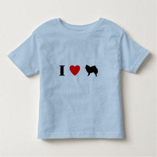 Amo perros esquimales americanos playera de bebé