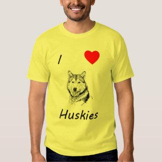 Amo perros esquimales camisas