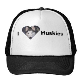 Amo perros esquimales gorras de camionero