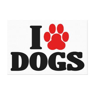 Amo perros impresión en tela
