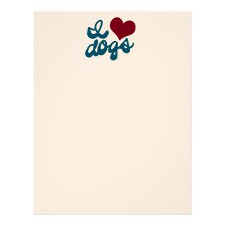 Amo perros membretes personalizados