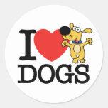 Amo perros pegatina