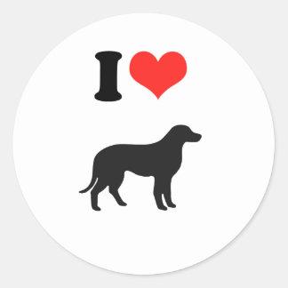 Amo perros pegatina redonda