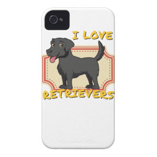 Amo perros perdigueros carcasa para iPhone 4 de Case-Mate