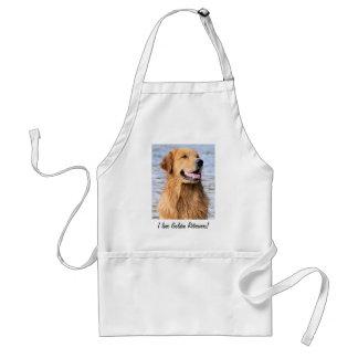 ¡Amo perros perdigueros de oro! Delantal