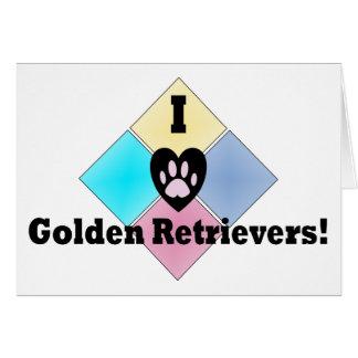 Amo perros perdigueros de oro tarjeta de felicitación
