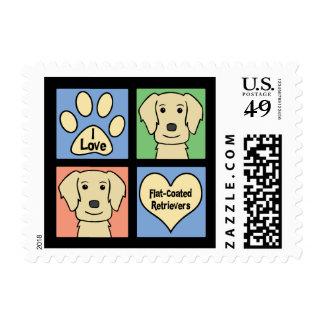 Amo perros perdigueros Plano-Revestidos Sello Postal