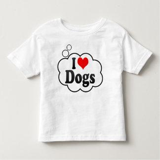 Amo perros playera de bebé