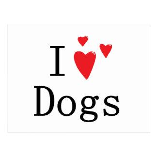 Amo perros tarjeta postal