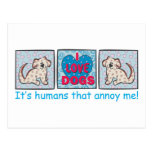 Amo perros tarjetas postales
